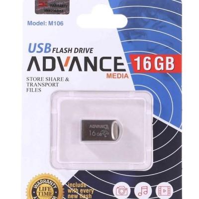 فلش مموری با حافظه 16 گیگابایت برند advance media مدل M106