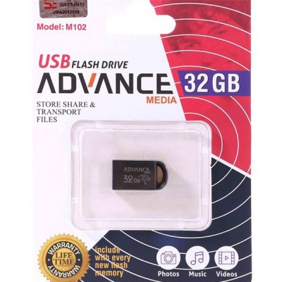 فلش مموری با حافظه 32 گیگابایت برند advance media مدل M102