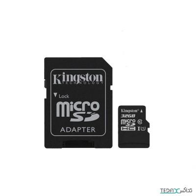 کارت حافظه microSDHC کینگستون کلاس 10 استاندارد UHC-I U1 سرعت 100MBps ظرفیت 32 گیگابایت