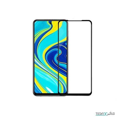 محافظ صفحه نمایش فول گلس ضد ضربه 9 دی مناسب برای شیائومی ردمی نوت 9اس/9پرو