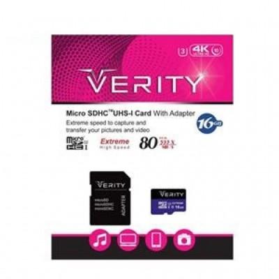 مموری کارت میکرو اس دی با حافظه 16 گیگابایت برند Verity مدل Class 10 U3