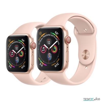 ساعت هوشمند اپل واچ سری 5 رنگ طلایی بند اسپورت رنگ صورتی 40mm