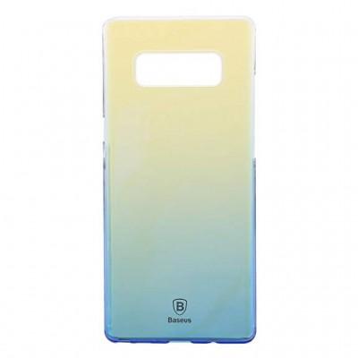 کاور شیشه ای رنگی سخت مناسب برای سامسونگ نوت 8 برند Baseus
