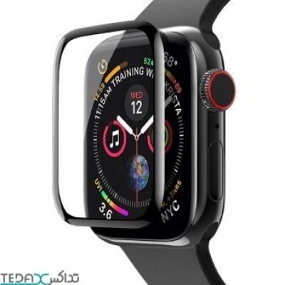 محافظ صفحه نمایش فول گلس دور نرم مناسب برای اپل واچ سایز 40 میلی متری