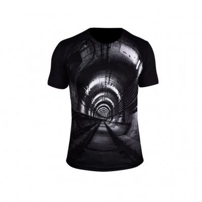 تی شرت سه بعدی مردانه آلما طرح دالان مدل 1003