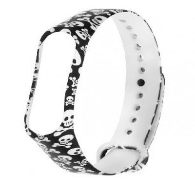 بند دستبند هوشمند شیائومی می بند 3 مدل Skull