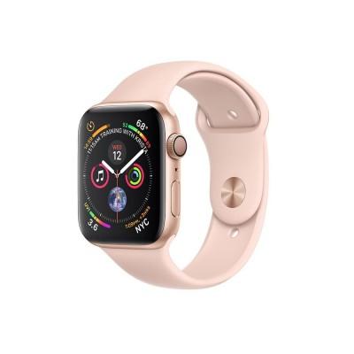 ساعت هوشمند اپل واچ سری 4 رنگ طلایی بند اسپورت  رنگ صورتی 44mm