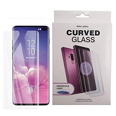 محافظ صفحه نمایش گلس فول چسب UV مناسب سامسونگ اس 10 پلاس
