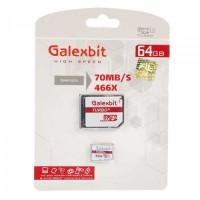 مموری کارت میکرو اس دی با حافظه 64 گیگابایت برند Galexbit مدل Class 10 U3 - Galexbit XC-I U3 Class 10 70MBps microSDHC With Adapter - 64GB