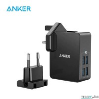 شارژر دیواری 27 وات 4 پورت انکر مدل Power Port 4 Lite A2042 - Anker 27W PowerPort 4 Lite USB Wall Charger A2042