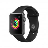 ساعت هوشمند اپل واچ سری 3 رنگ خاکستری بند اسپورت رنگ مشکی 42mm - Apple Watch Series 3 GPS 42mm Gray Aluminum Case with Black Sport Band