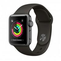 ساعت هوشمند اپل واچ سری 3 رنگ خاکستری بند اسپورت رنگ خاکستری فضایی 42mm - Apple Watch Series 3 GPS 42mm Gray Aluminum Case with Gray Sport Band