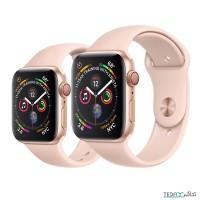 ساعت هوشمند اپل واچ سری 5 رنگ طلایی بند اسپورت رنگ صورتی 44mm - Apple Watch Series 5 GPS, 44mm Gold Aluminum Case with Pink Sand Sport Band