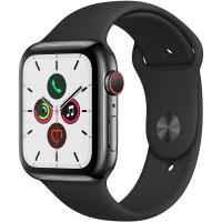 ساعت هوشمند اپل واچ سری 5 رنگ خاکستری بند اسپورت رنگ مشکی 44mm - Apple Watch Series 5 GPS, 44mm Gray Aluminum Case with Black Sport Band