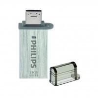 فلش مموری با حافظه 32 گیگابایت برند Philips مدل OTG - Philips USB3 Flash Memory With OTG - 32GB