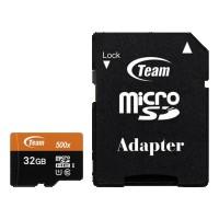 مموری کارت میکرو اس دی با حافظه 32 گیگابایت برند Team مدل Class 10 U1 - Team UHS-I U1 Class 10 80MBps microSDHC With Adapter - 32GB