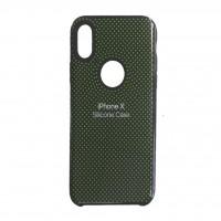 کاور سیلیکونی طرح Point مناسب برای آیفون ایکس - Silicone cover 3 Point For iPhone X