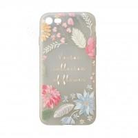 کاور طرح ژله ای گلدار مناسب برای آیفون 7 و 8 مدلA - Flower iphone case For iphone 7/8 A