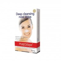 چسب پاک کننده بینی پیوردرم مدل Deep Cleansing بسته 6 عددی - Purederm Deep Cleansing Nose Strips Pack Of 6