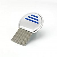 شانه ضد شپش مدل تمام استیل پاک کننده تخم شپش - anti lice comb metal