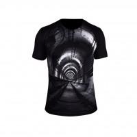 تی شرت سه بعدی مردانه آلما طرح دالان مدل 1003 - -