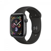 ساعت هوشمند اپل واچ سری 4 رنگ خاکستری بند اسپورت رنگ مشکی 44mm - Apple Watch Series 4 GPS 44mm Gray Aluminum Case with Black Sport Band