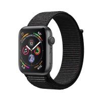 ساعت هوشمند اپل واچ سری 4 رنگ خاکستری بند اسپورت لوپ رنگ مشکی 44mm - Apple Watch Series 4 44mm Space Gray Aluminum Case With Black Sport Loop