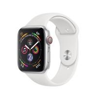 ساعت هوشمند اپل واچ سری 4 رنگ نقره ای بند اسپورت رنگ سفید تیره 44mm - Apple Watch Series 4 GPS 44mm Silver Aluminum Case with Fog Sport Band