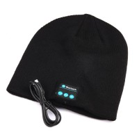 کلاه هدفون دار بلوتوثی - DOLIROX Wireless Bluetooth Knit Hat Music Cap Hands-free Phone Call Answer Ears-free Beanie Hat