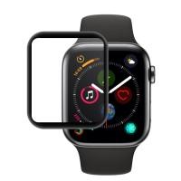 محافظ صفحه نمایش گلس فول چسب Coteetci مدل 4D مناسب برای اپل واچ سری 4 44mm - Coteetci 4D Screen Protector Full Glass For Apple watch 4 Series 44mm