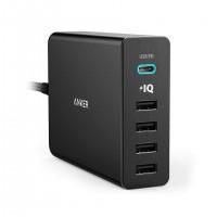 شارژر رومیزی 5 پورت انکر مدل PowerPort Plus 5 USB C - Anker PowerPort + 5 USB C With Power Delivery Desktop Charger A2053