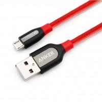 کابل شارژ انکر اندروید مدل میکرو یو اس بی 1 متری - Anker Power Line + Micro USB 3ft Cable