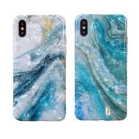 کاور طرح سنگ آبی مناسب برای آیفون ایکس اس مکس - Marble Blue case For Iphone XS MAX